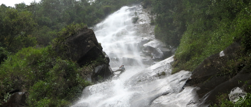 Waterfall rapelling