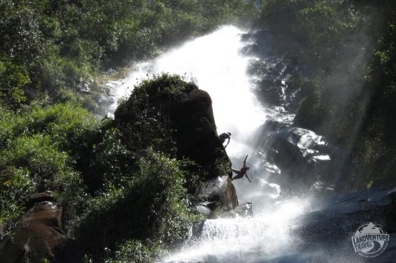 Pure water waterfall